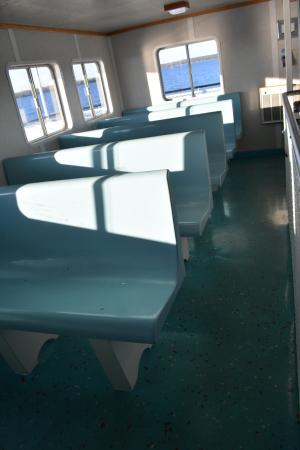 Washington Island, WI: Inside seating out of the wind