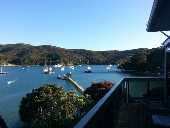 Kawau Lodge: View to the South-East, overlooking the jetty