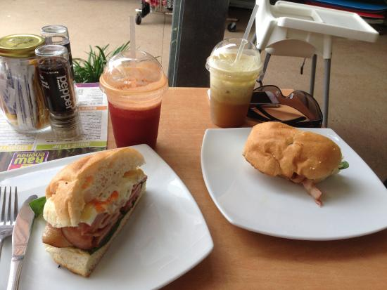 Raw Energy Coolum: Bacon and Egg roll