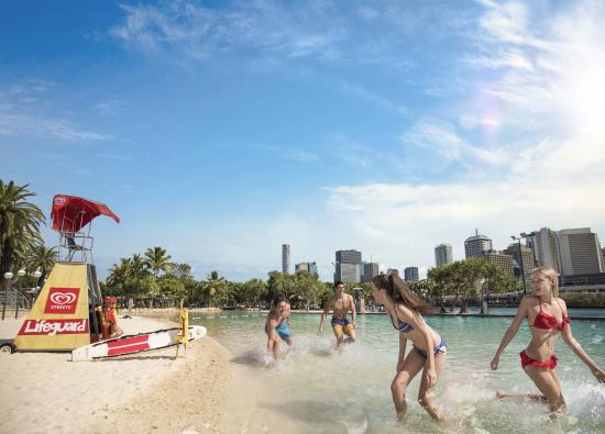 Brisbane, Australia: Cool off at Streets Beach in South Bank