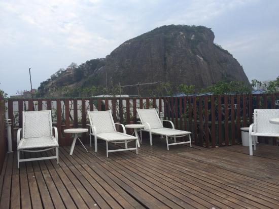 Augusto's Copacabana Hotel: rooftop lounge chairs
