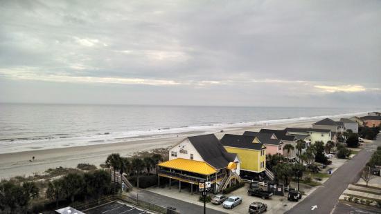 Surfside Beach Resort: View from balcony, December 2015.