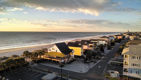 Surfside Beach Resort: View from balcony, January 2016.