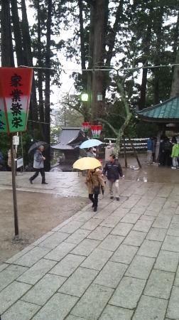 Yunohama Onsen: 善宝寺(階段を上り本堂へ)