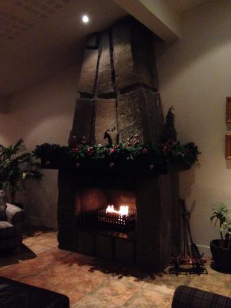 Northern Light Inn: 共有スペースにある暖炉。ソファも置いてあるので、ここで寛げます。