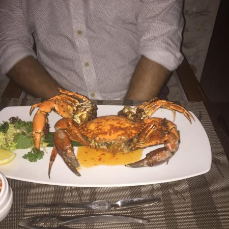 North Ari Atoll: Best Crab we have had !!