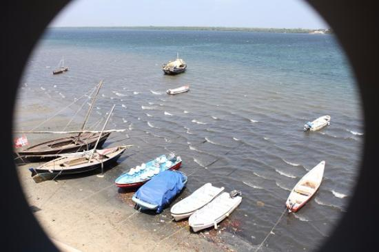 Lamu House Hotel : View from balcony of the waterfront