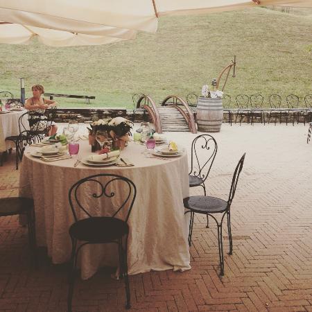 Agriturismo Il Piccolo Mugnaio: Mise en plais dei tavoli