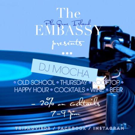 Rooftop evening with Dj Mocha - this evening playing Old