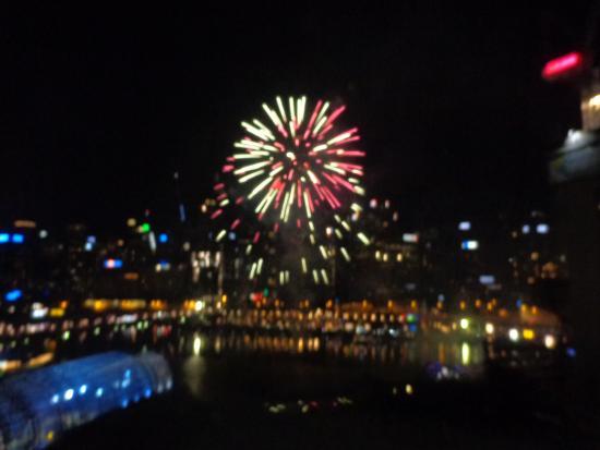 Novotel Sydney on Darling Harbour: Feux d'artifices du 31 12 15 à Darling Harbour