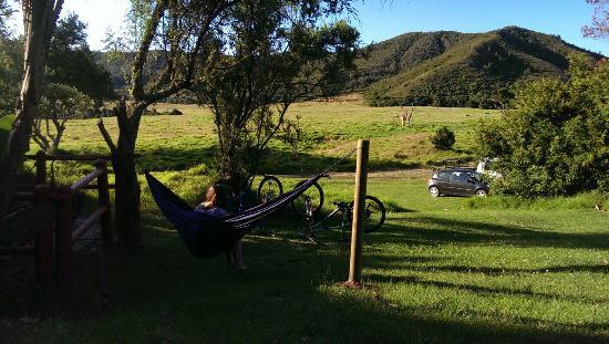 Giraffe View Safari Camp: Private outdoor area & view on game