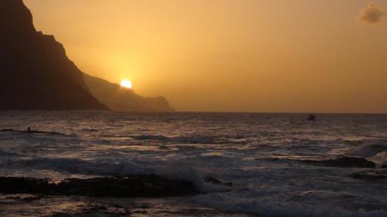 Ponta Do Sol, Кабо-Верде: zonsondergang in Punta do Sol