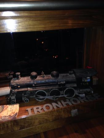 Iron Horse Hotel : Train displayed in lobby