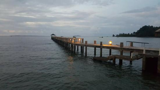 Wori, Indonesië: jetty view from restaurant