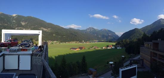 Achenkirch, النمسا: Uitzicht vanaf het terras!