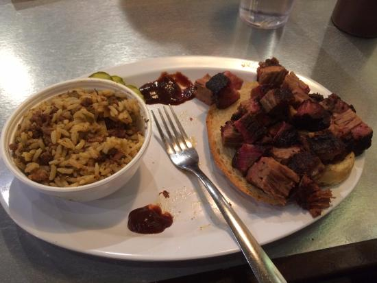 Leawood, KS: burnt ends and dirty rice