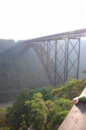 New River Gorge Bridge: From the lookout, around sunset.
