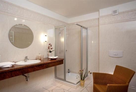 Badezimmer (Dusche) - Bild von Landgasthof Hengstforder ...
