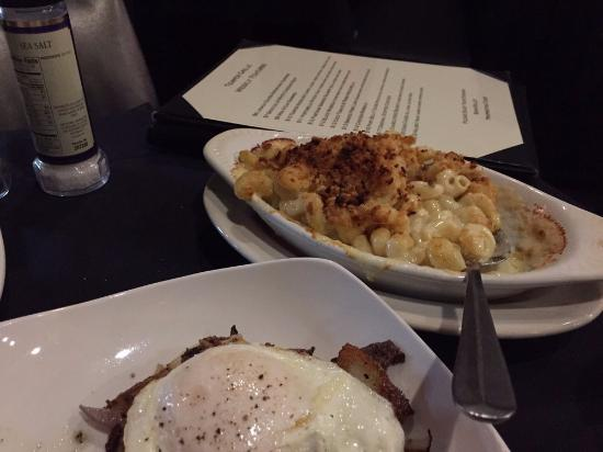 Temper Grille: Duck fat fried potatoes with a fried egg and AMAZING mac&cheese!
