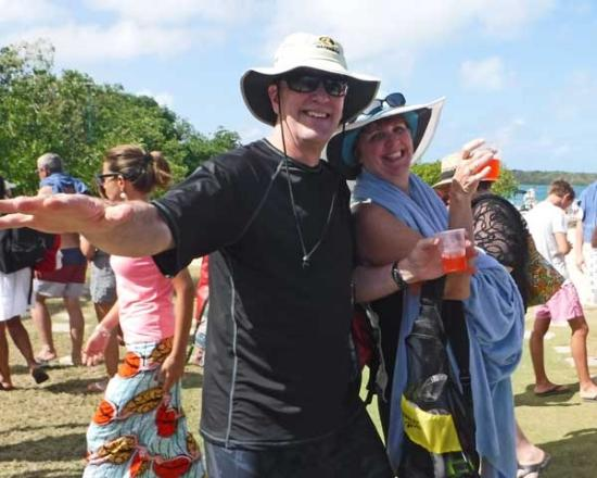 Explore Antigua with Gordan: Everyone is happy with rum punch...Stingray City