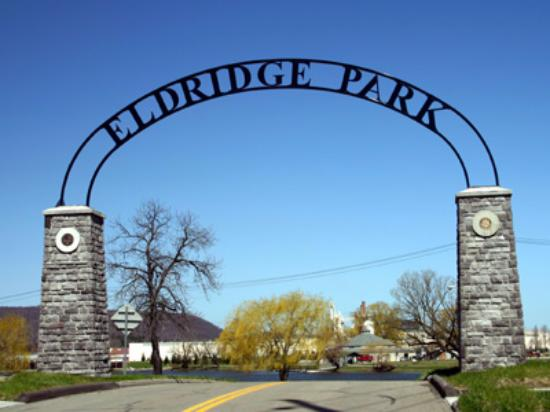 entrance to Eldridge Park Elmira, NY
