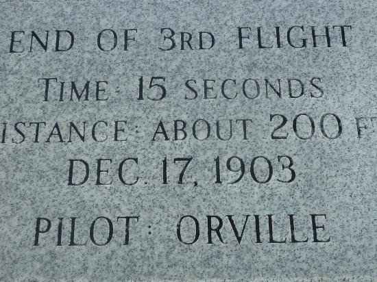 Wright Brothers National Memorial: December 17, 1903:  Man's first flight