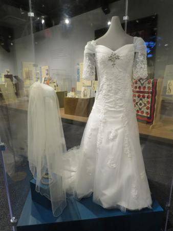 Wedding dress display - Picture of Museum of the Albemarle ...