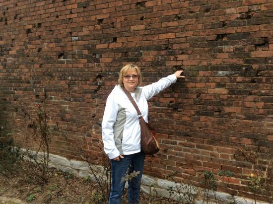 Lotz House Museum: Civil War: Bullet holes in walls
