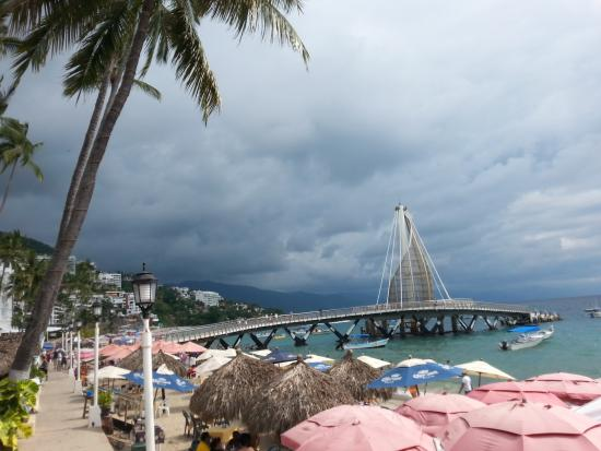 Los Muertos Pier: View of the pier from the beach.