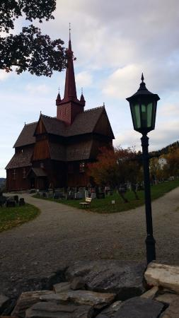 Ringebu Stave Church: the view to the church