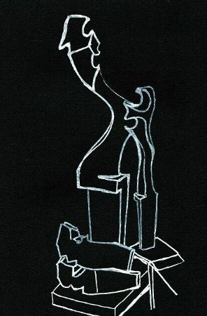 The workshop of Paolo Brandolisio: Les forcole, pièce en bois que Paolo sculpte comme une oeuvre. Elle reçoit la rame des gondolier