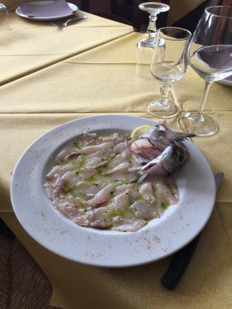 Lavinio Lido di Enea, Italia: Crudite' dì sarago locale