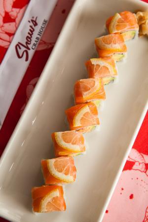Shaw's Crab House: Shrimp, Salmon & Lemon Maki