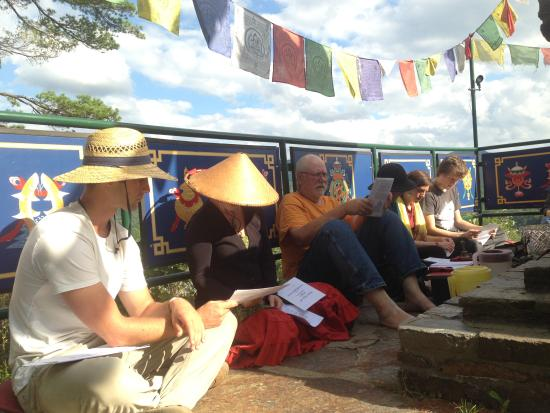 Barnet, VT: Prayers at the Stupa