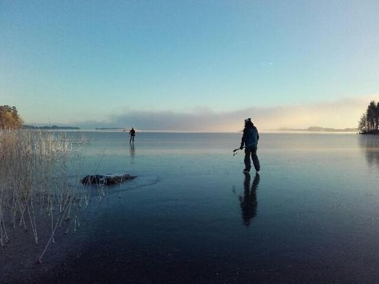 Rantasalmi, Finlandia: Tour skating in Linnansaari National Park