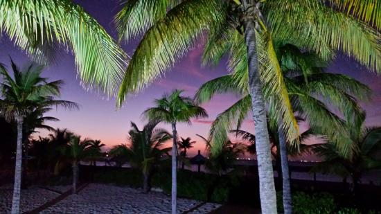 Club Med Turkoise, Turks & Caicos: Listening to music at sunset from the beach bar, Sharkie's