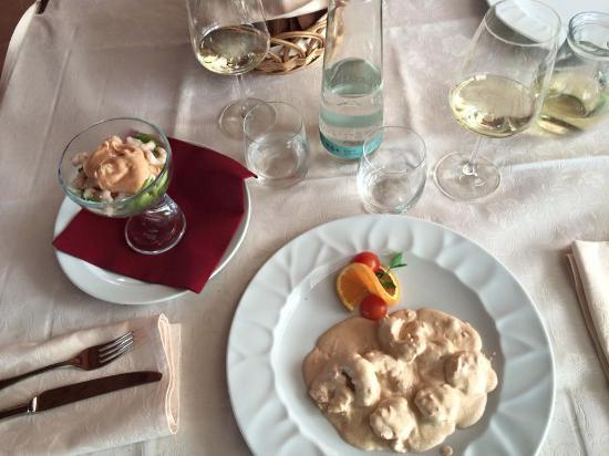 Slovenian Istria, Slovenien: Gamberi in salsa di senape