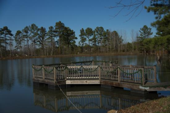 Pond And Pier Picture Of Parkers Crossroads Rv Park And