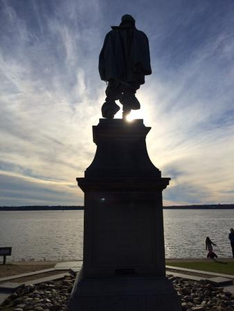 Historic Jamestowne: Looking out over the James River from the John Smith Memorial