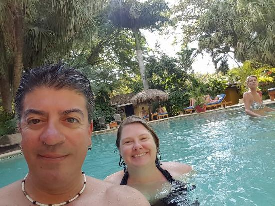 Hotel Pasatiempo: Heather and I in the pool