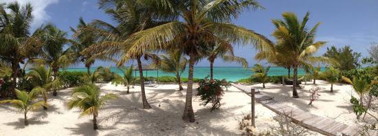 Whitby, North Caicos: The palapa (shade area)