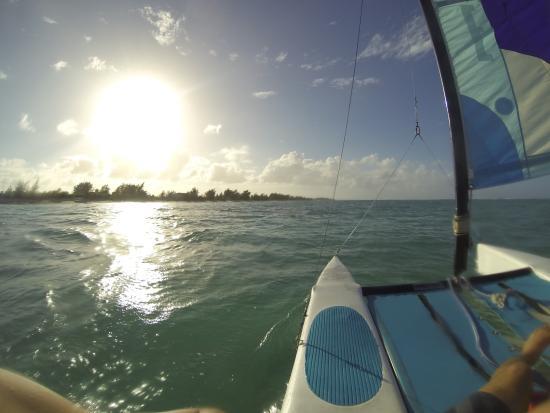 Whitby, North Caicos: The hobiecat wave catamaran