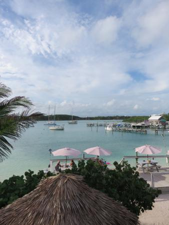 Marsh Harbour, Great Abaco Island: View from upper deck of Pete's Pup