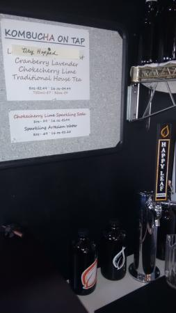Burger Joint : Kombucha on tap.