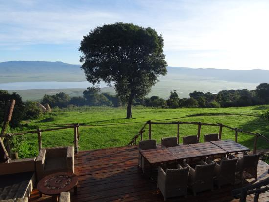 andBeyond Ngorongoro Crater Lodge: Crater in front