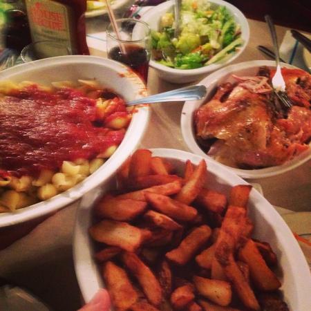 Wright's Farm Restaurant: The meal!