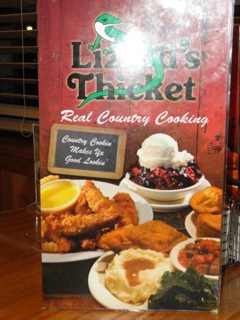 Blythewood, Carolina del Sur: The menu