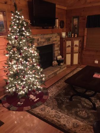 Hidden Mountain Resorts: Fireplace in Living Room
