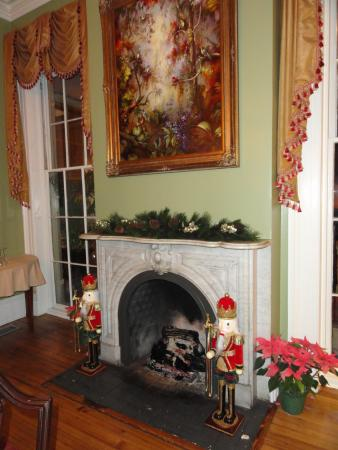 Gastonian: Parlor fireplace