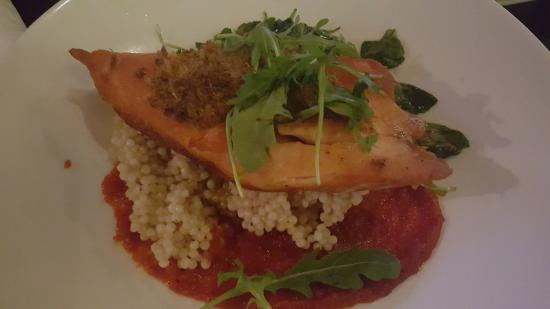 Bedford Academy Pub Bistro: Salmon with couscous